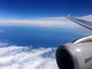 実はこの時飛行機が怖くて震えておりました